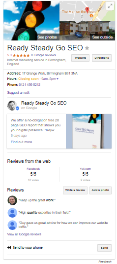 GoogleMyBusiness Ready Steady Go SEO